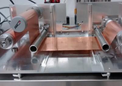 Pulsedeon proprietaty Lighthouse PLD process arrangement: Roll-to-roll arrangement for anode coating